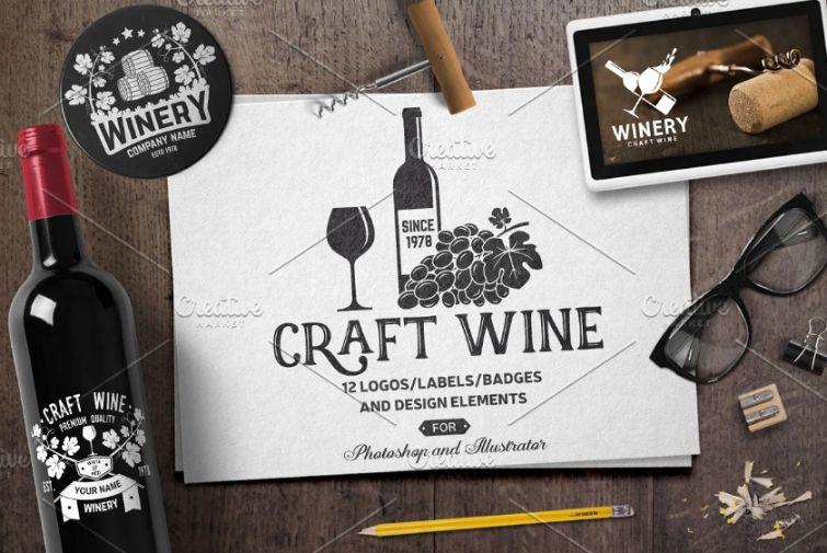 Craft Wine Identity Designs