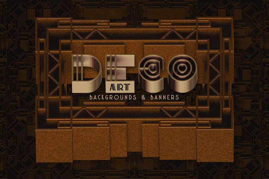 Creative Art Deco Banner and Backrounds