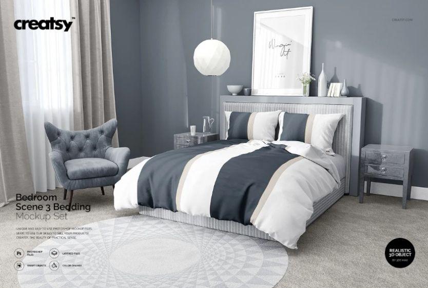 Creative Bedroom Mockup Set
