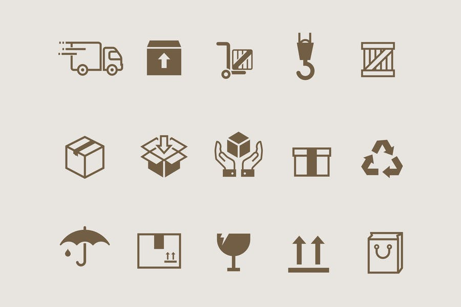 Creative Box Packaging Icons