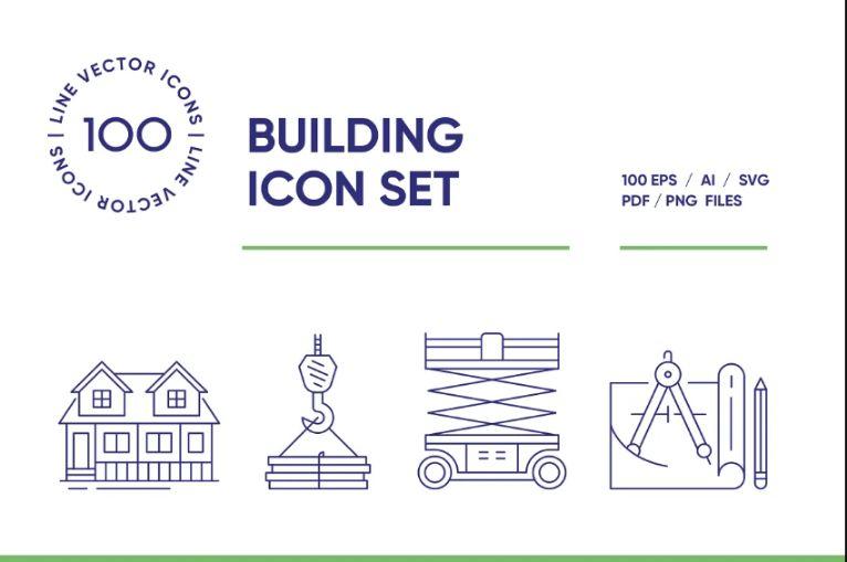 Creative Building Icon Set