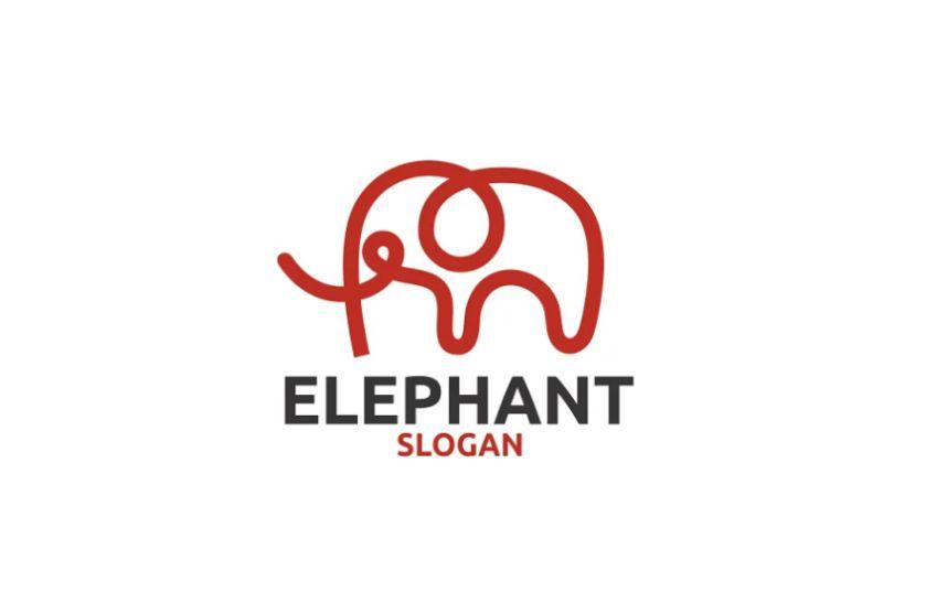 Creative Cut Out Elephant Identity