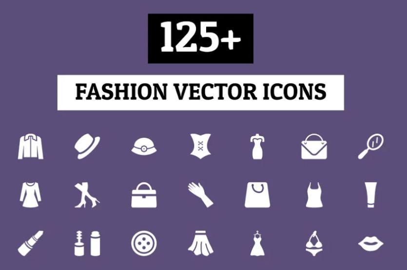 Creative Fashion Vector Icons