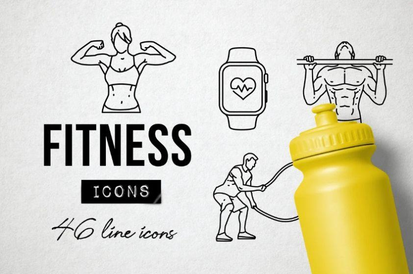 Creative Fitness icons Set