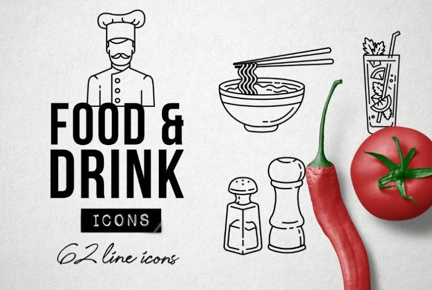 Creative Food Blog Icons
