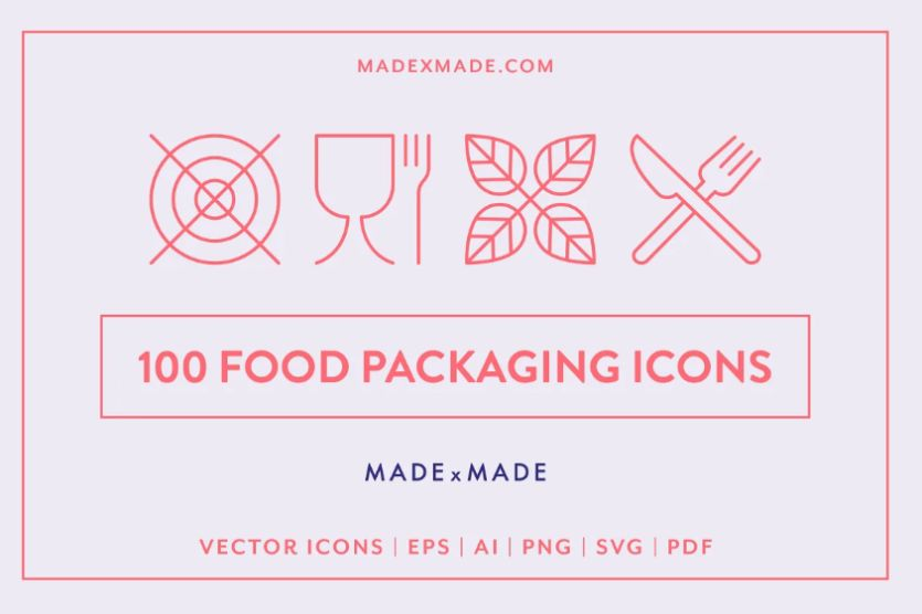 Creative Food Packaging Icons