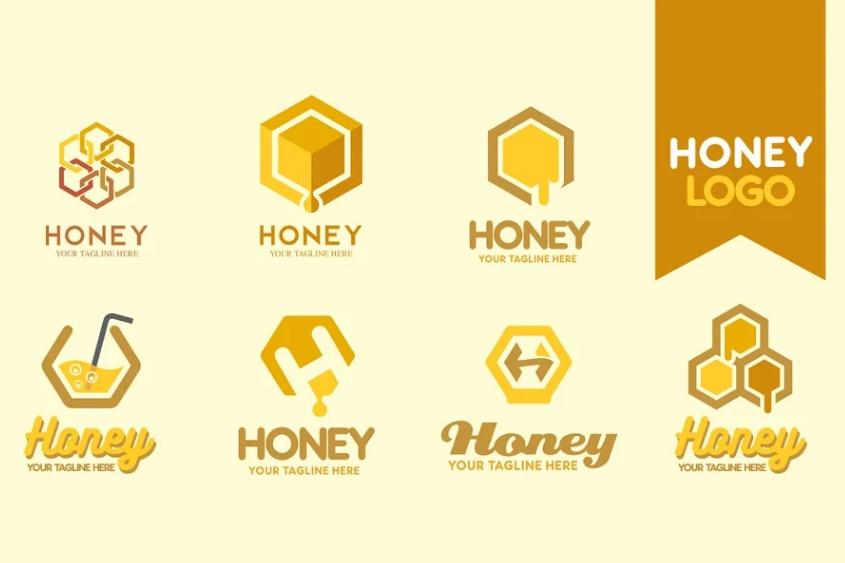 Creative Honey Logo Set