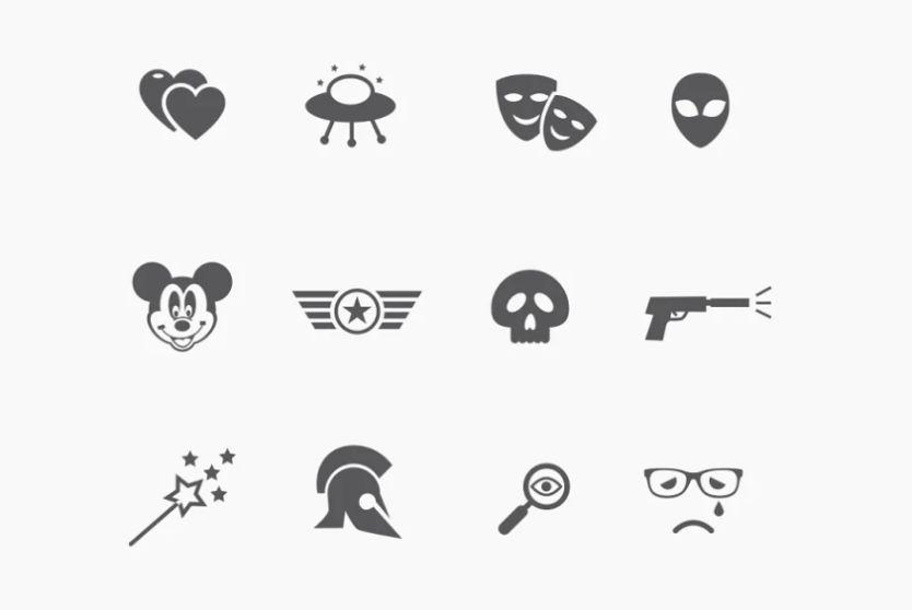 Creative Movie Genre icons