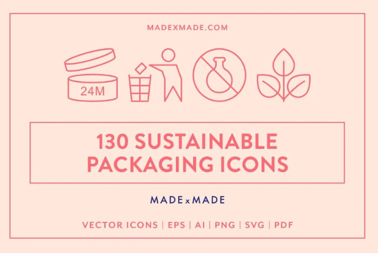 Creative Packaging Line Icons Set