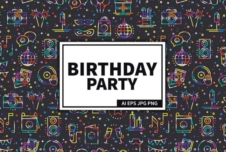 Creative Seamless Birthday Backgrounds