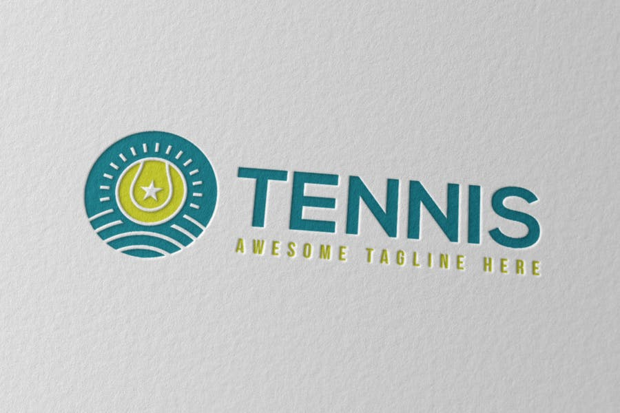 Creative Tennis Logo Design
