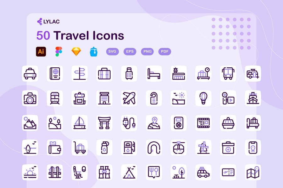 Creative Vacation Icons