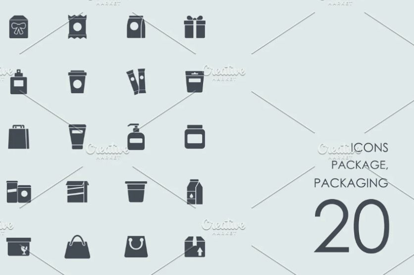 Creative Vector Packaging Icons