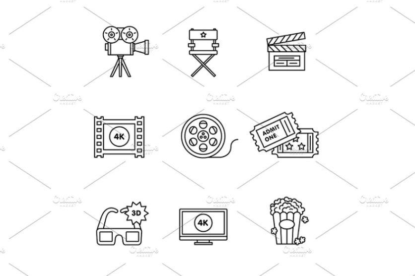 Creative Video Icon Set