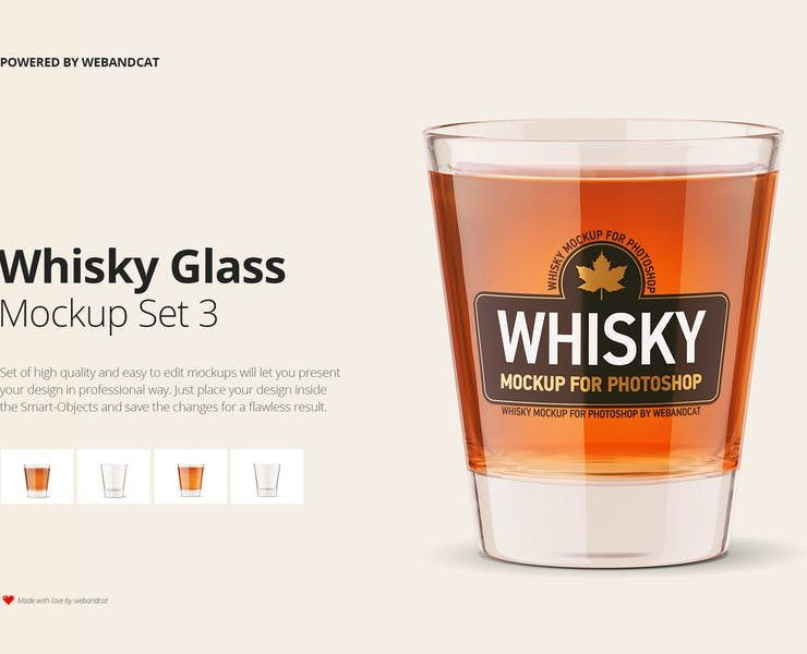 15+ FREE Whiskey Glass Mockup PSD Download