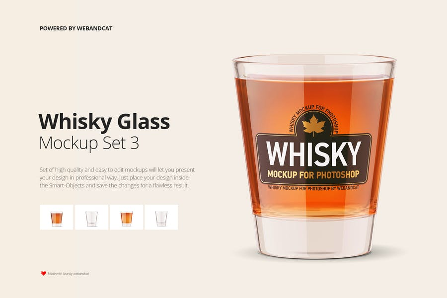 Creative Whisky Shot Mockup Set