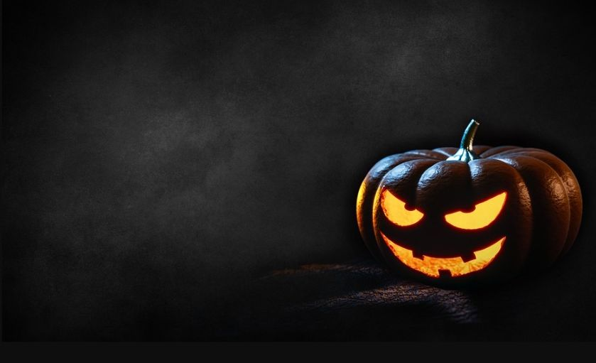 Creepy Pumpkin Background Design