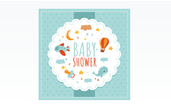 Cute Baby Shower Vector Background
