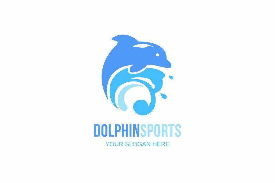 Cute Dolphin Sports Identity Design