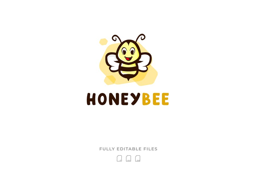Cute Honey Bee Identity Design