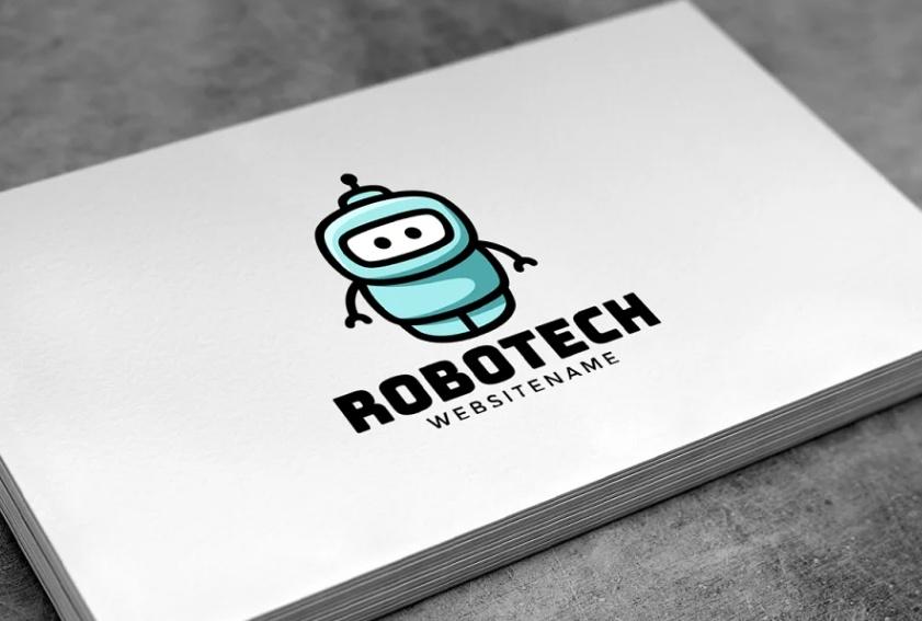 Cute Machine Style Logo Design