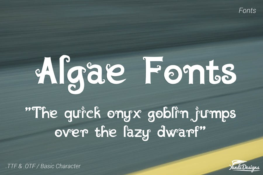 Decorative Style Typeface