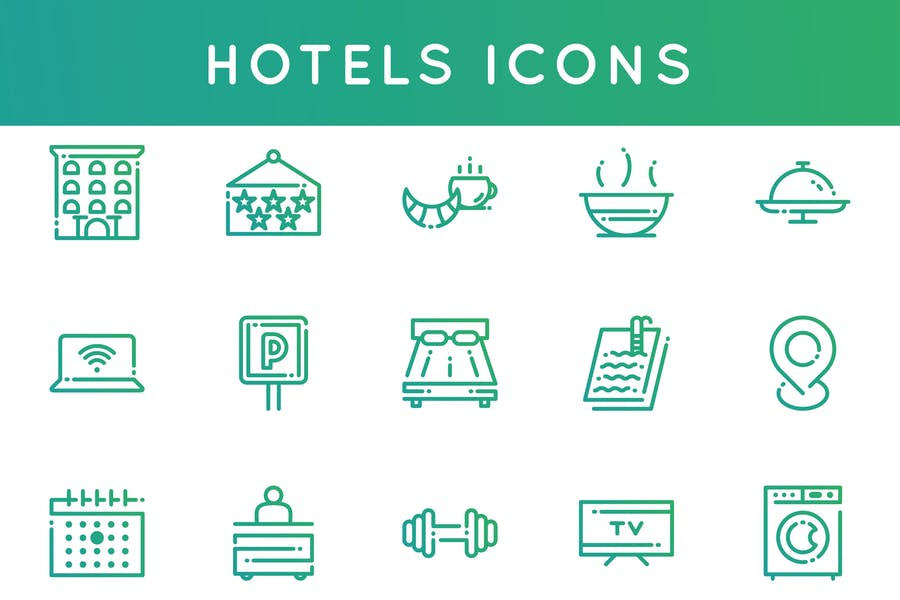 Dotted Vector Icons Set