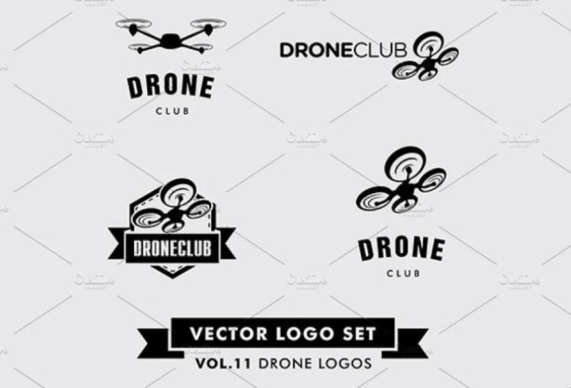 Drone Logo Identity Set