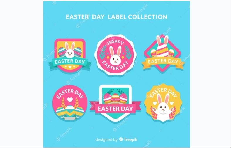 Easter Day Label Design