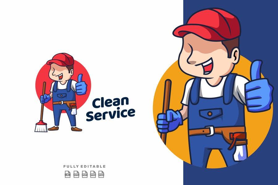 Editable Clean Services Logo