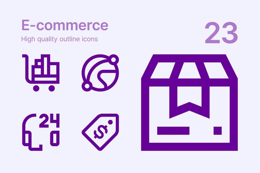 Editable E Commerce Icon Designs