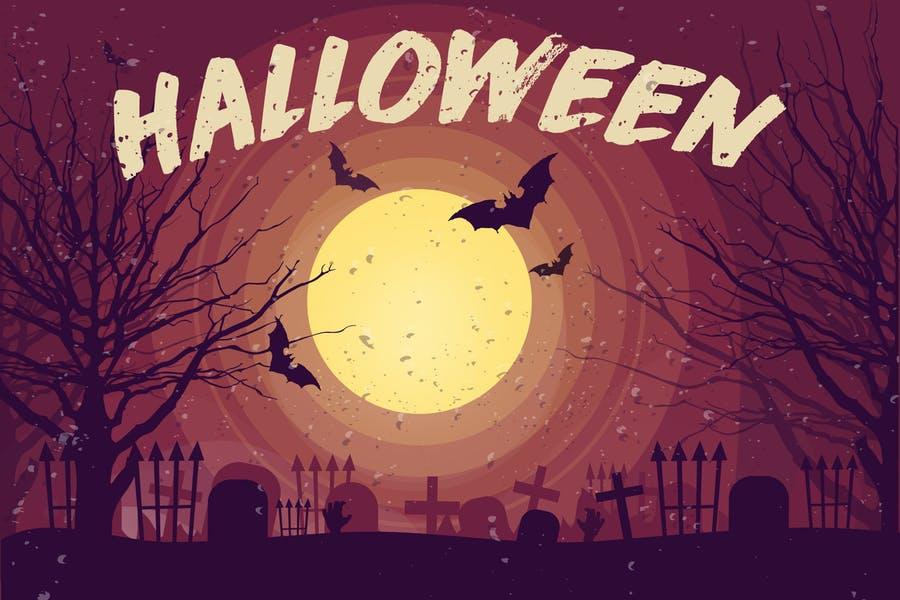 Editable Halloween Illustration Design
