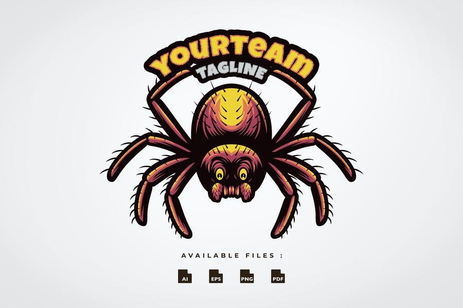 Editable Spider Mascot Logo
