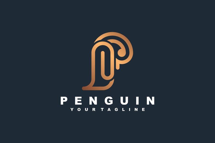 Elegant Penguin Identity Design