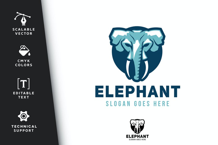 Elephant Head Logo Designs