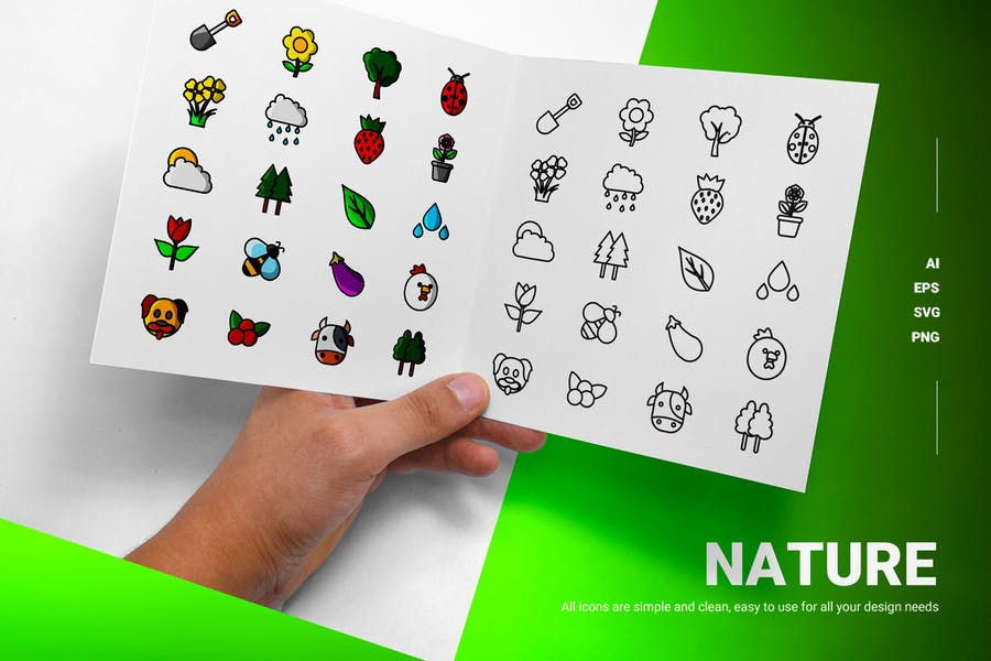 Essential Nature Icons Pack