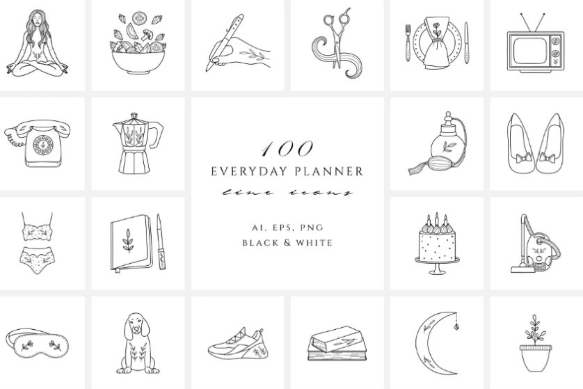 Everyday Planner Icons  Set