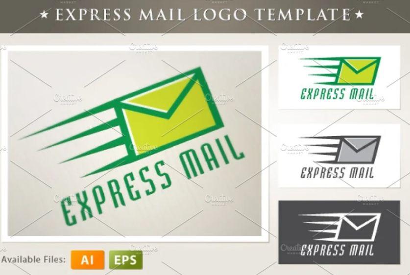 Express Mail Logo Template