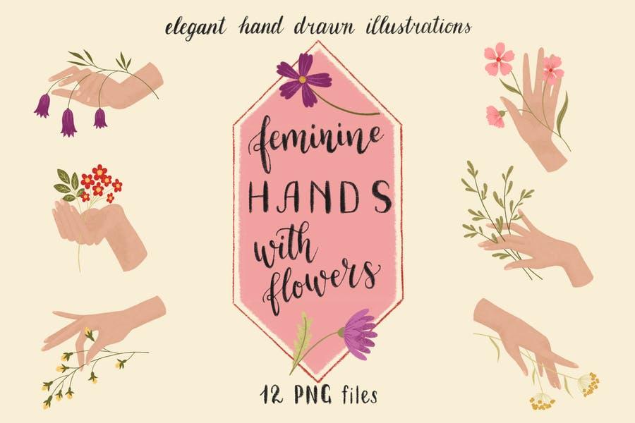 Feminine Hand Drawn Illustration