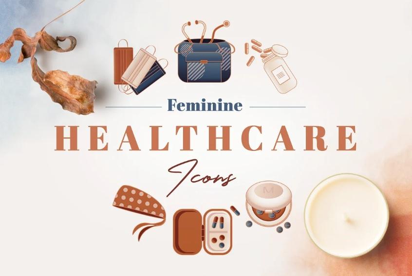 Feminine Health Care Icons