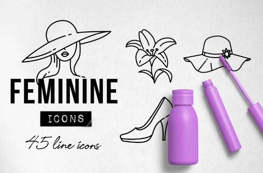 Feminine Icons Set