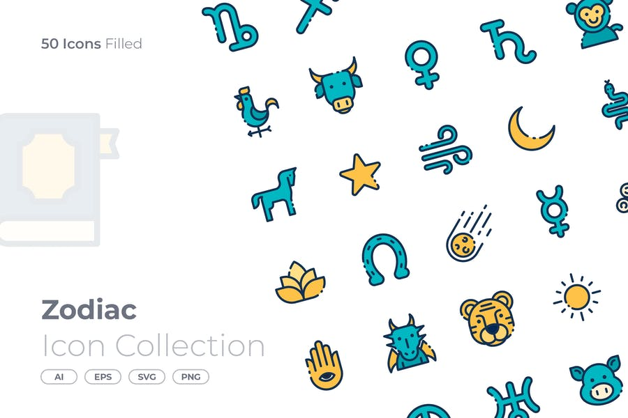 Filled Zodiac Icon Collection