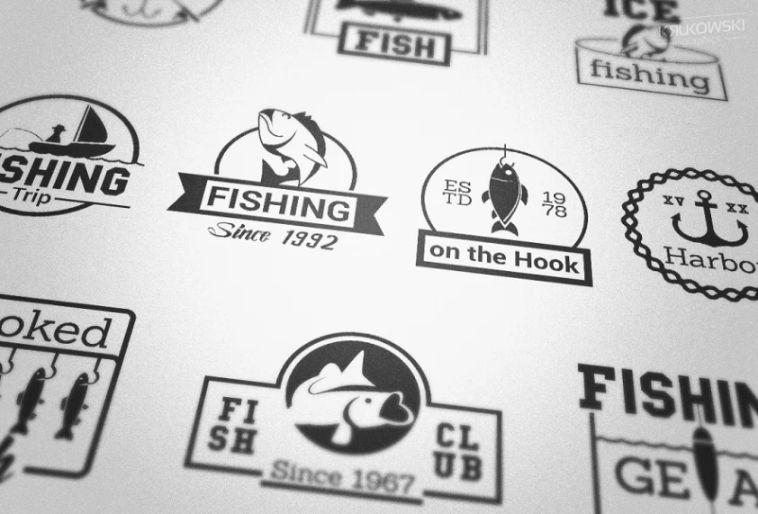 Fishing Hook Logo Template