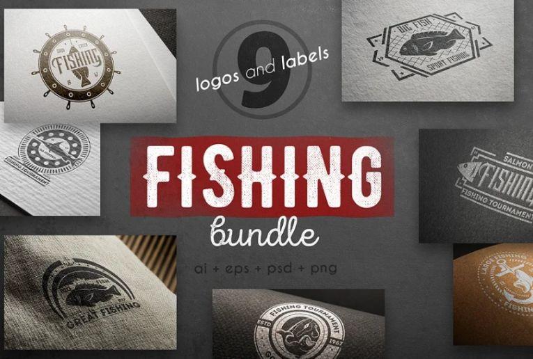Fishing Logo Template Bundle