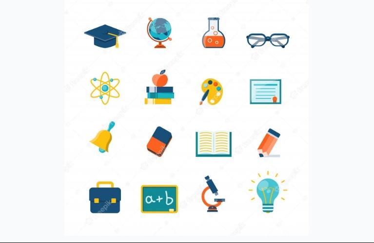 Flat Educational Icon Set