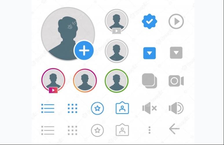 Flat Instagram Icons