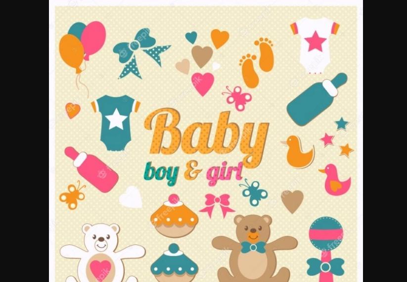 Free Baby Shower Illustration pack