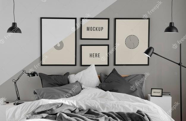 Free Bedroom Frames Mockup