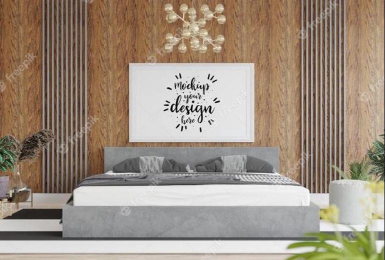 Free Bedroom Mockup PSD
