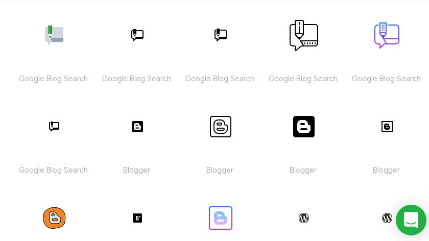 Free Blog Icons Set